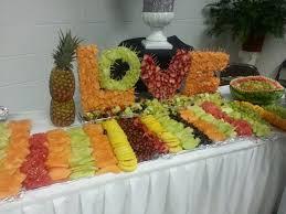fruit displays wedding fruit display