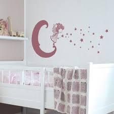 stickers chambre fille feerique sticker fée lunaire chambre enfant