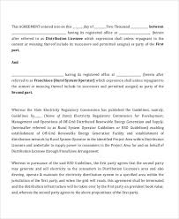 contract agreement between two parties sample 5 sample of