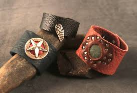 Learning To Make Jewelry - stud rivet grommet and bezel leather bracelets craftcast