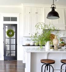 Bright White Kitchen Cabinets Simple Spring Decor Kitchen Pinterest Spring Kitchens