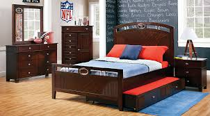 nfl playbook 5 pc full panel bedroom boys u0027 bedroom sets dark wood