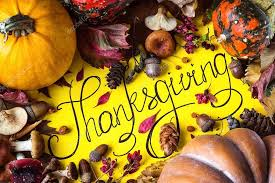 happy thanksgiving day background postcard concept