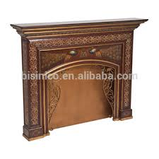 Shabby Chic Fireplace by Vintage Lacquer Gilding Arts Wooden Fireplace Mantel Hand Painting