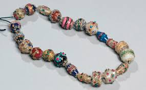 necklace from beads images Trade beads victoria and albert museum jpg