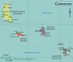 map comoros comoros political map