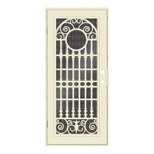 Unique Home Designs  In X  In Spaniard Beige Hammer Left - Unique home designs security door