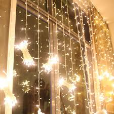white christmas lights 224led 9 8ft 6 6ft curtain string fairy wedding led lights for