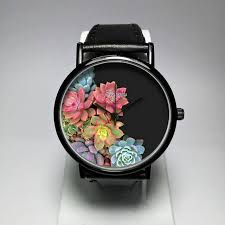 cactus watch womens watches gift for her christmas leather