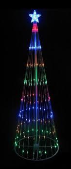 christmas decorations light show 12 multi color led light show cone christmas tree lighted yard art