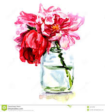Flowers In Vases Pictures Beautiful Flowers In Vase Isolated Stock Illustration Image