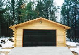 building a 2 car garage 24 x 24 x 8 2 car garage log siding at menards