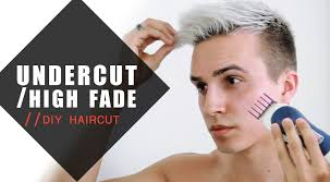 diy mens haircut undercut high fade how i cut my hair men s hairstyles youtube