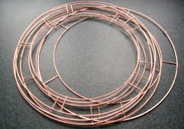 metal wire rings images Wire rings metal wreath jpg