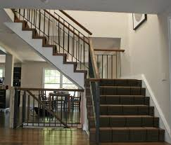 Indoor Banister Interior Design Durable Staircase Using Stainless Steel Stair