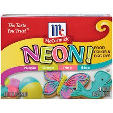 exotic color names mccormick neon assorted food color 1 fl oz walmart com