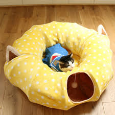 pet tunnel cat beds house and sleep with ball cat play tunnel