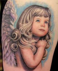 angel tattoo i u0027d like this with all these colors but an older