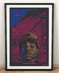 Chicago Neighborhood Map Poster by Chance The Rapper Poster Chance The Rapper Print Music