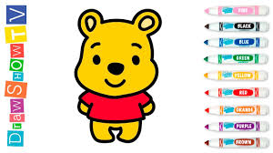 draw winnie pooh coloring games kids colouring