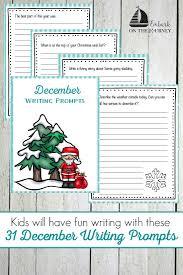 31 printable december writing prompts