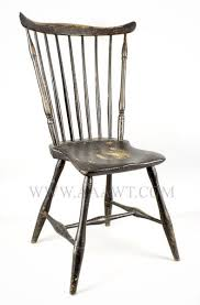 fan back windsor armchair antique furniture chairs early country pilgrim american