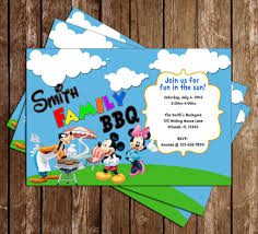 novel concept designs disney mickey mouse bbq birthday party
