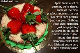 parents sister birthday message