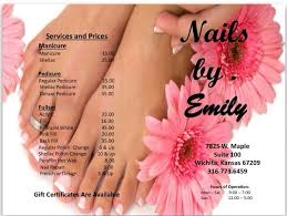 please ask for different types of pedicures and new product for