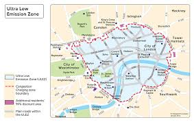 Is Time Zone Map ultra low emission zone transport for london