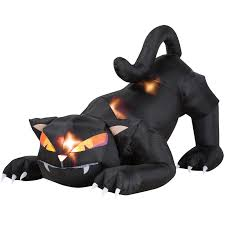 5 ft animated airblown black cat with turning head walmart com