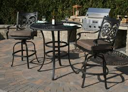 Bar Height Patio Set With Swivel Chairs Modern Style Patio Bar Chairs And Wicker Bar Table Chair Omr B