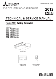 sez kd25 71val service manual hwe0711c mitsubishi electric