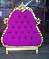 Purple Tufted Headboard by Purple Gold Diva Headboard U003d Diva Headquarters
