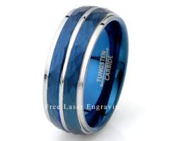 mens blue wedding bands blue wedding band etsy