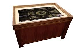 Gaming Coffee Table Geek Chic Gaming Tables Add 60 Inch Touchscreens To The Mix Polygon