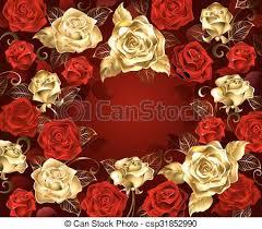 gold roses and gold roses gold and roses with golden leaves on