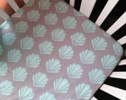 Seashell Crib Bedding Seashell Crib Sheet Etsy