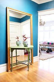 Mirror And Table For Foyer Entryways With Captivating Mirrors