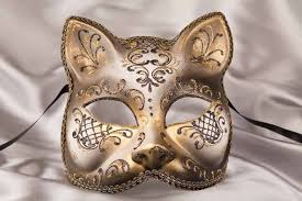cat masquerade mask gatto fiore gold animal cat mask ebay