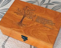personalized wooden keepsake box memory box etsy