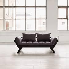 canap futon pas cher karup canapé convertible bebop 180 cm bois noir futon anthracite