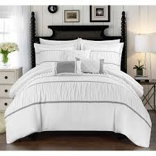 10 Pc Comforter Set Wanda 10 Piece Wanda Bed In A Bag Bedding Comforter Set Walmart Com
