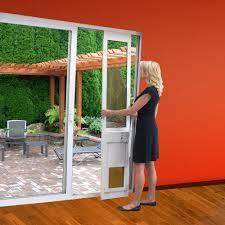 Multi Slide Patio Doors by Low E Glass Dual Pane Sliding Glass Patio Pet Door Insert