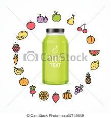 eps vector of juice bottle jar template vector juice bottle jar