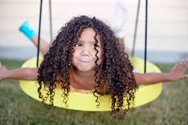 short curly hair biracial hair care routine for kids
