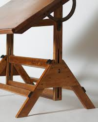 Large Drafting Tables Flux Large Vintage Oak Drafting Table