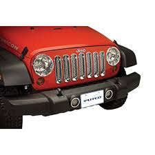 jeep chrome putco 400508 jeep wrangler jk fog light bezel chrome pair 2007 2018