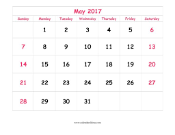 print calendars for 2017 free may 2017 calendar printable templates webelations