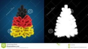 patriotic christmas tree of germany stock illustration image
